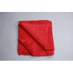 5x Profi Autopoliertuch Microfasertuch rot, ultraschallgeschnitten 40x40 cm