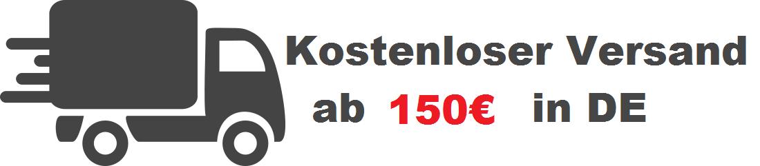 Versandkosten frei ab 150€